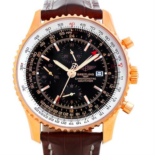 Photo of Breitling Navitimer World Chronograph 18K Rose Gold Watch R24322 154/500 LE