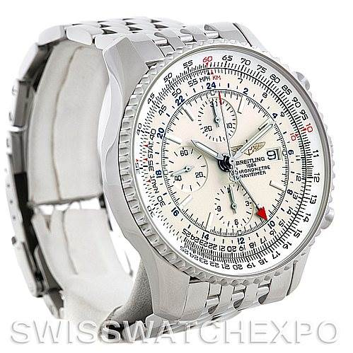 5661 Breitling Navitimer World Chronograph Steel Watch A24322 SwissWatchExpo