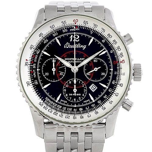 Breitling Navitimer Montbrilliant Chronograph Steel Watch A41330 SwissWatchExpo