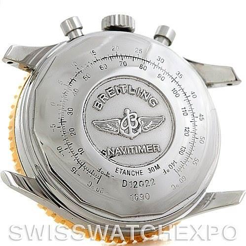 Breitling Navitimer Cosmonaute Lemania Chrono Steel 18K Yellow Gold D12022 SwissWatchExpo