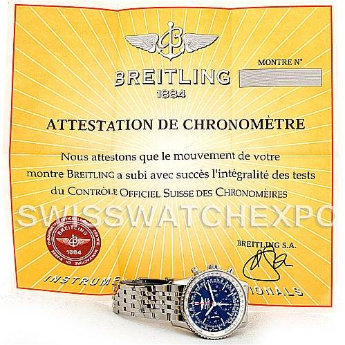 Breitling Navitimer Blue Sky LE 60th Anniversary Watch AB0125 SwissWatchExpo