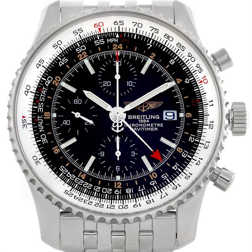 5924 Breitling Navitimer World Chronograph Steel Watch A24322 SwissWatchExpo