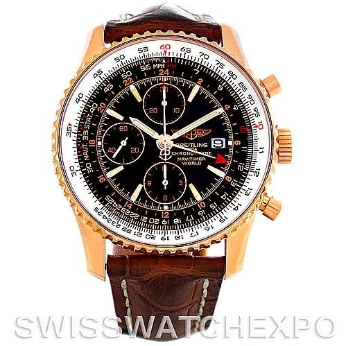 5128P Breitling Navitimer World 111 18K Rose Gold LE Watch H24322 SwissWatchExpo