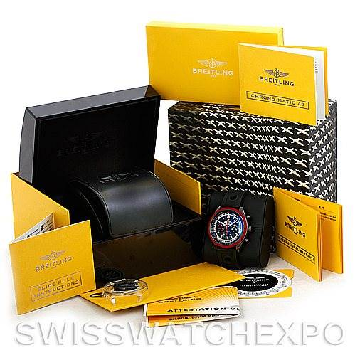 5960 Breitling Navitimer Chrono-Matic Limited Edition Watch M14360 SwissWatchExpo