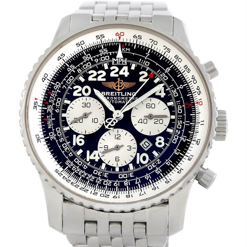 6258 Breitling Navitimer Cosmonaute Chrono Mens Watch A22322 SwissWatchExpo