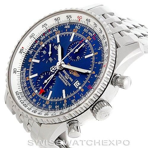 6435 Breitling Navitimer World Chronograph Steel Watch A24322 SwissWatchExpo