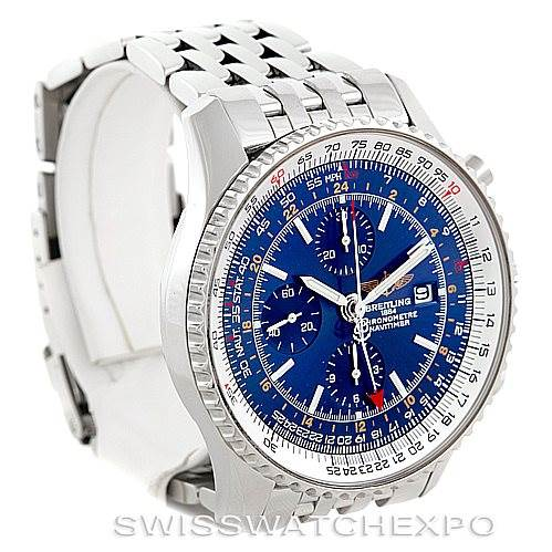 Breitling Navitimer World Chronograph Steel Watch A24322 SwissWatchExpo