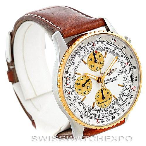 Breitling Navitimer II Automatic Steel 18K Yellow Gold Watch D13022 SwissWatchExpo