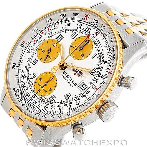 6438 Breitling Navitimer Steel and Gold Automatic Watch D13322 SwissWatchExpo