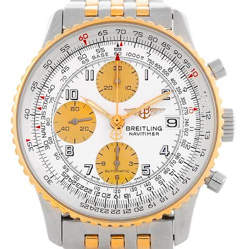 Photo of Breitling Navitimer Steel and Gold Automatic Watch D13322