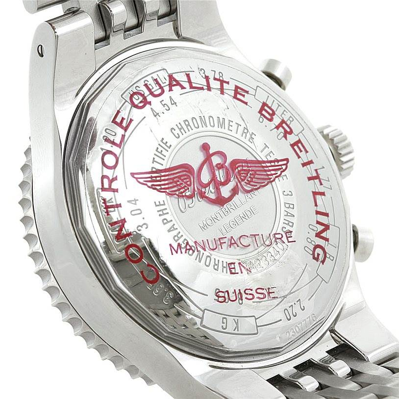 Breitling Montbrillant Legende Steel Mens Watch A23340 SwissWatchExpo