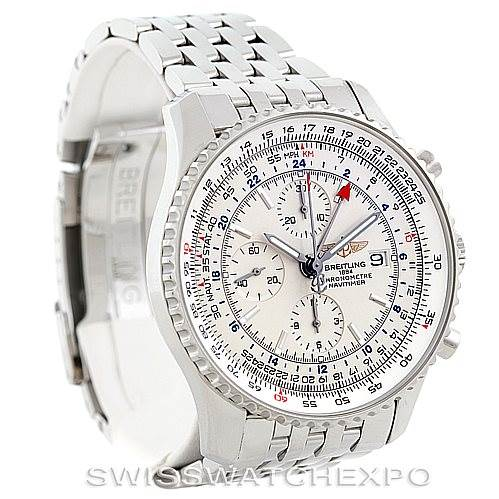 6507 Breitling Navitimer World Chronograph Steel Watch A24322 SwissWatchExpo