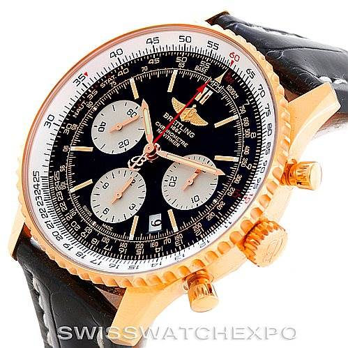 6376p Breitling Navitimer 18K Rose Gold Limited Edition Watch RB0121 SwissWatchExpo
