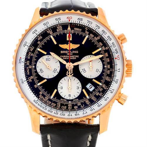 Photo of Breitling Navitimer 18K Rose Gold Limited Edition Watch RB0121