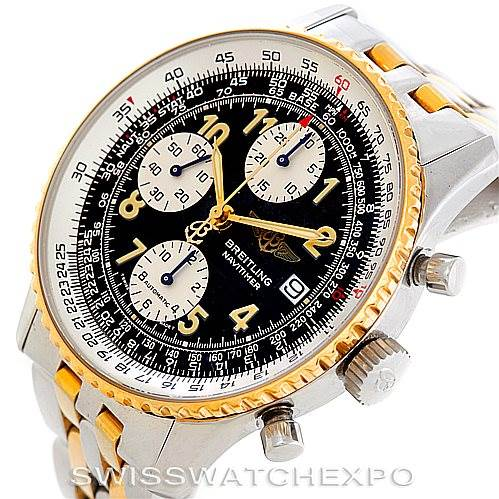 6617 Breitling Navitimer Steel and Gold Automatic Watch D13020 SwissWatchExpo