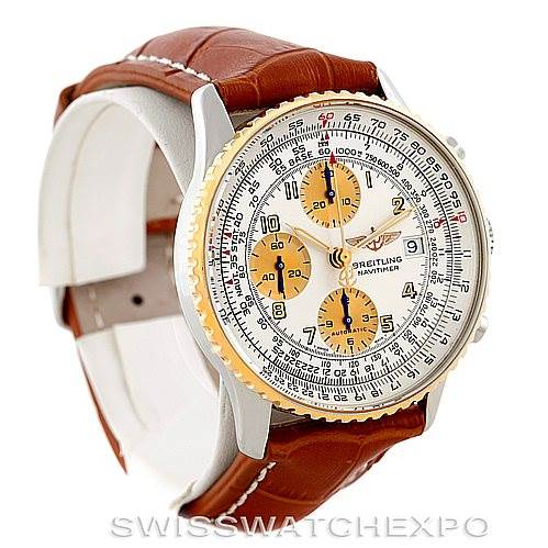 6642 Breitling Navitimer Automatic Steel 18K Yellow Gold Watch B13019 SwissWatchExpo