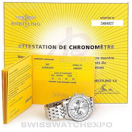 Breitling Navitimer Chronograph Steel Watch A23322 Unworn SwissWatchExpo