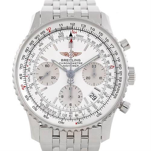 Photo of Breitling Navitimer Chronograph Steel Watch A23322 Unworn
