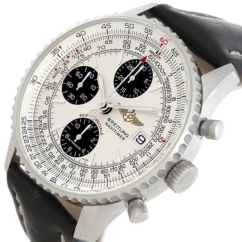 6785 Breitling Navitimer Fighter Automatic Chronograph Steel Watch A13330 SwissWatchExpo