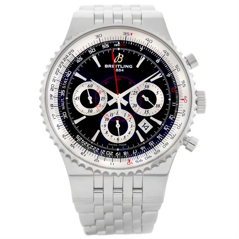 6799 Breitling Montbrillant 47 Limited Edition Steel Mens Watch A23351 SwissWatchExpo