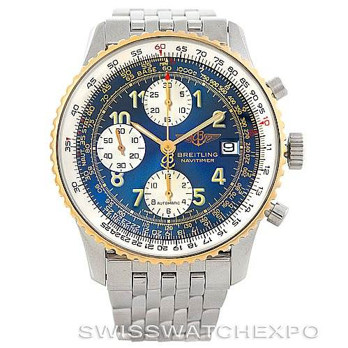 6809 Breitling Navitimer II Automatic Steel and 18K Yellow Gold Watch D13022 SwissWatchExpo