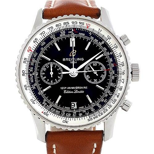 6946 Breitling Navitimer Limited 125th Anniversary Steel Watch A23322 SwissWatchExpo