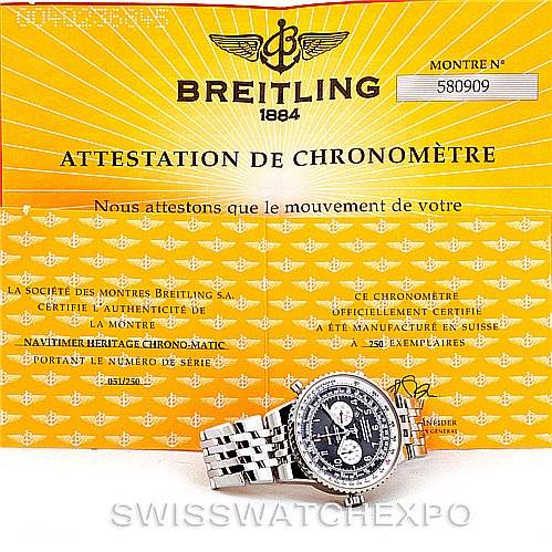 7151 Breitling Navitimer Heritage Left Crown LE Mens Watch A35360 SwissWatchExpo