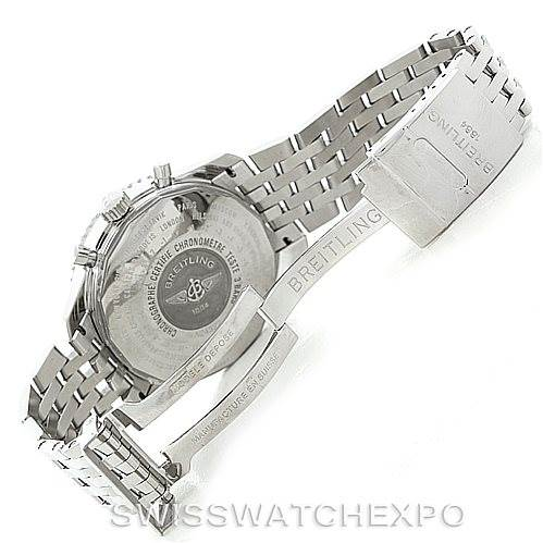 7188 Breitling Navitimer World Chronograph Steel Watch A24322 SwissWatchExpo