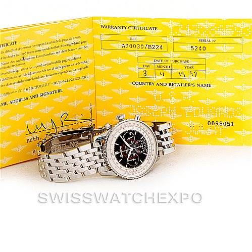 Breitling Navitimer Airborne Stainless Steel Watch A33030 SwissWatchExpo