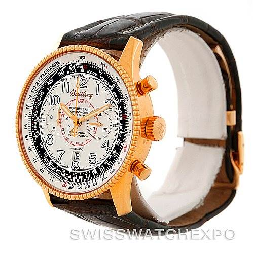 7372P Breitling Navitimer Montbrillant 18K Rose Gold Watch H35330 Limited SwissWatchExpo