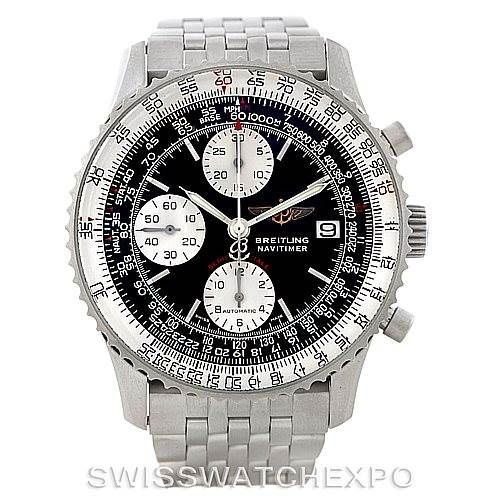 7366 Breitling Navitimer Fighter Automatic Chronograph Steel Watch A13330 SwissWatchExpo