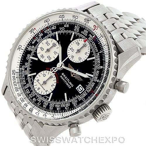 Breitling Navitimer Fighter Automatic Chronograph Steel Watch A13330 SwissWatchExpo