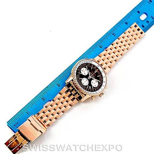 Breitling Navitimer 18K Rose Gold Limited Edition Watch R23322 SwissWatchExpo