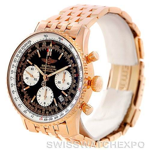 6710P Breitling Navitimer 18K Rose Gold Limited Edition Watch R23322 SwissWatchExpo