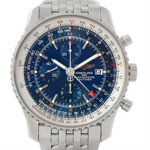 Photo of Breitling Navitimer World Chronograph Steel Watch A24322 Unworn