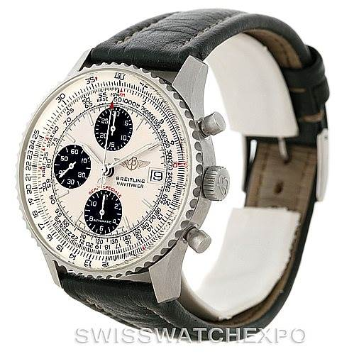 8169 Breitling Navitimer Fighter Automatic Chronograph Steel Watch A13330 SwissWatchExpo