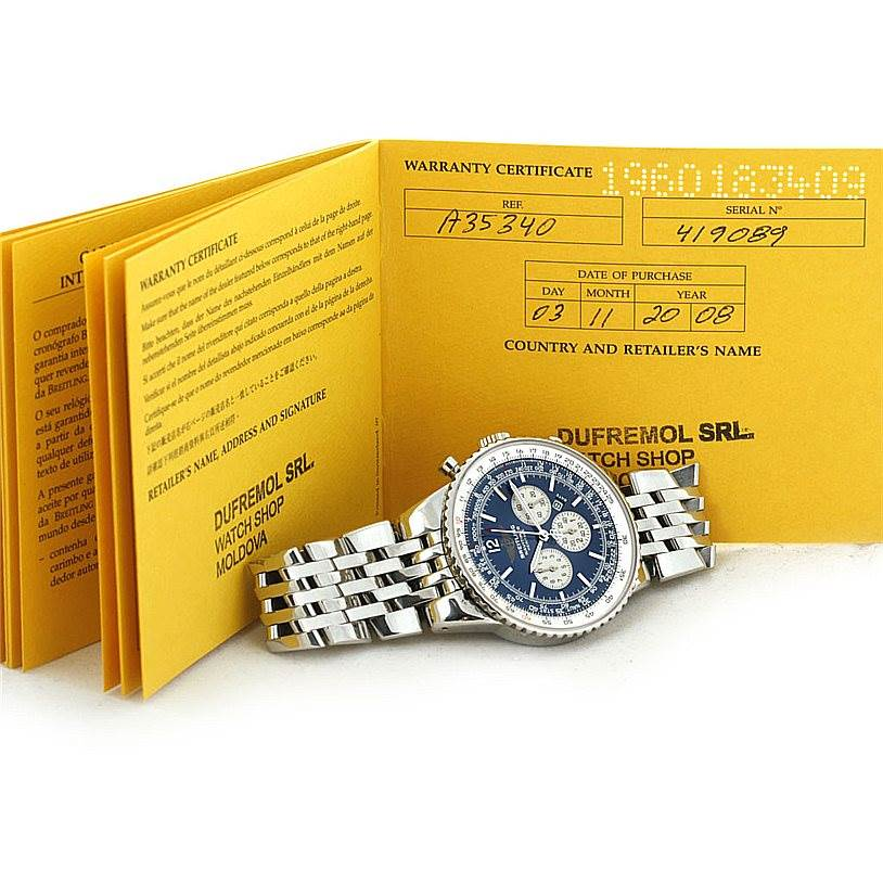 8173 Breitling Navitimer Heritage Mens Watch A35340 SwissWatchExpo