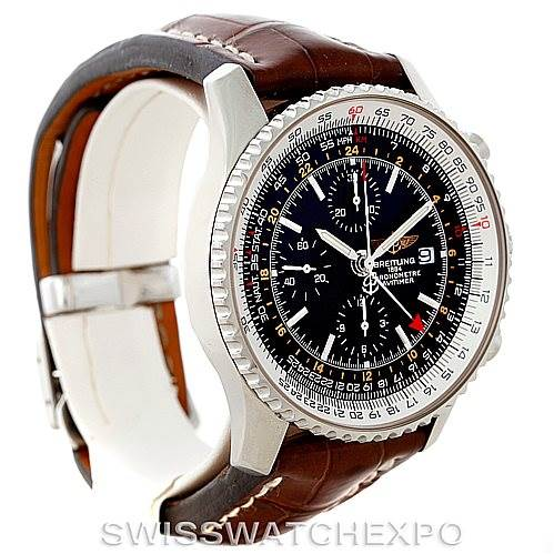 8188 Breitling Navitimer World Chronograph Steel Watch A24322 SwissWatchExpo