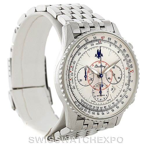 8281 Breitling Navitimer Montbrilliant Chronograph Steel Watch A41030 SwissWatchExpo