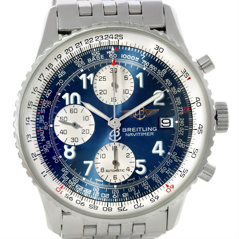 8624 Breitling Navitimer II Automatic Steel Watch A13322 SwissWatchExpo