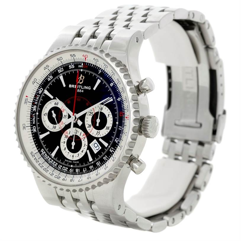8677 Breitling Montbrillant 47 Steel Mens Limited Edition Watch A23351 SwissWatchExpo