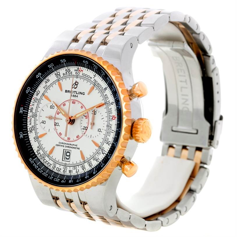 8676 Breitling Montbrillant Legende Steel Rose Gold Watch C23340 SwissWatchExpo