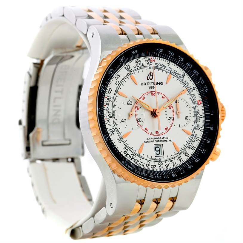 Breitling Montbrillant Legende Steel Rose Gold Watch C23340 SwissWatchExpo