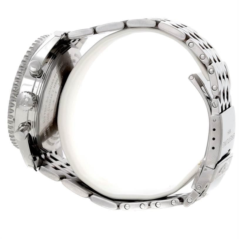 8678 Breitling Navitimer World Chronograph Steel Watch A24322 SwissWatchExpo
