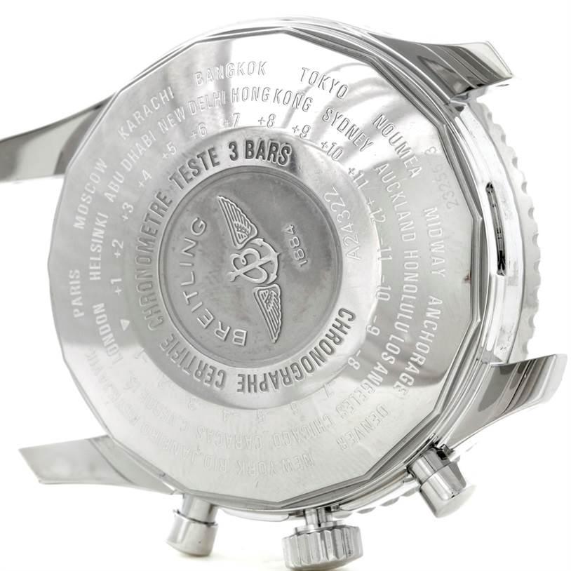 8786 Breitling Navitimer World Chronograph Steel Watch A24322 SwissWatchExpo