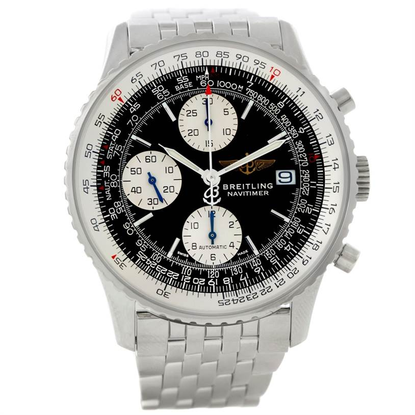 8752 Breitling Navitimer II Automatic Steel Watch A13322 SwissWatchExpo