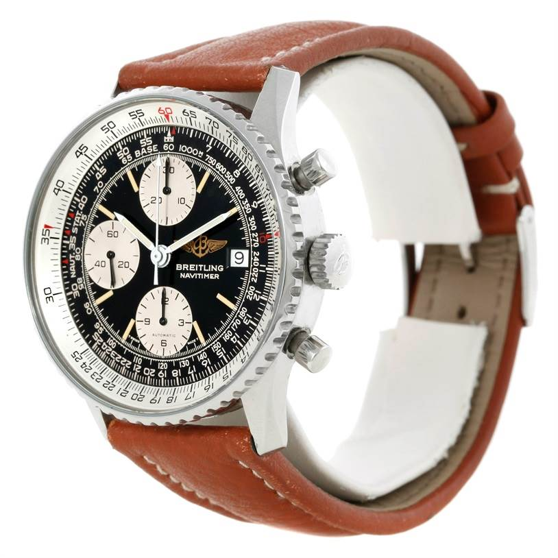 9008 Breitling Navitimer II Automatic Chronograph Steel Watch A13019 SwissWatchExpo