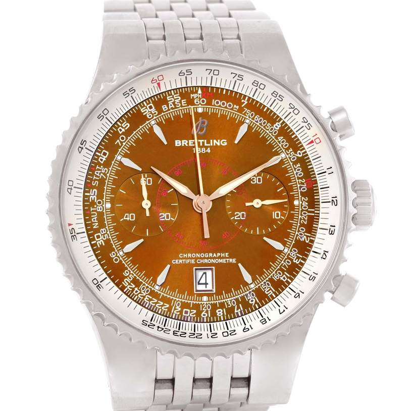 Breitling Montbrillant Legende Bronze Dial Mens Watch A23340 SwissWatchExpo