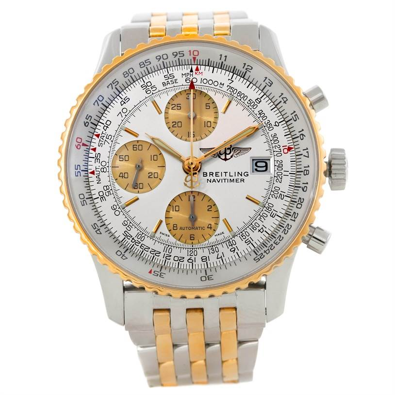 Breitling Navitimer Steel and Gold Automatic Watch D13322 SwissWatchExpo