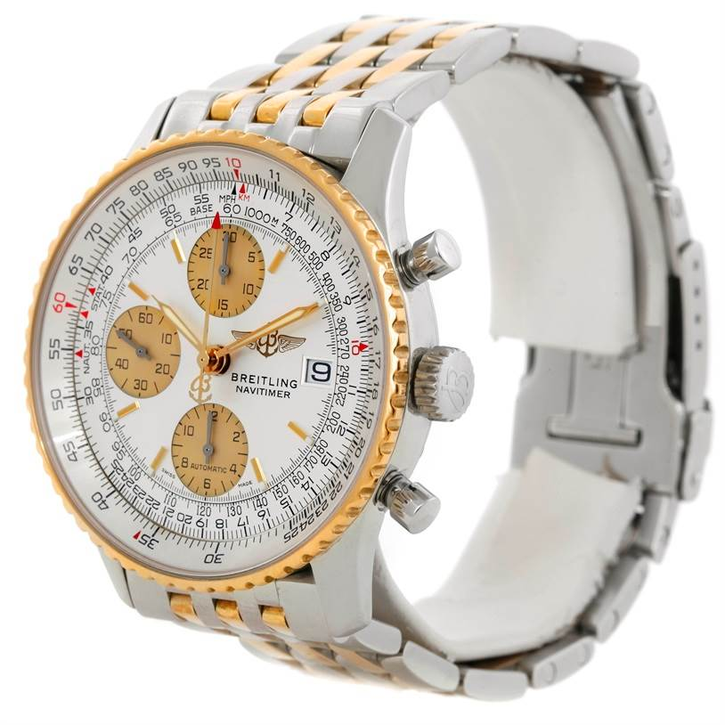 9329 Breitling Navitimer Steel and Gold Automatic Watch D13322 SwissWatchExpo